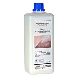 1 Liter Nano Bodenbeschichtung (Glanz) Laminat-Versiegelung Parkett-Beschichtung Fliesen-Beschichtung PVC Linoleum Naturstein Klinker -