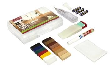 Picobello Holz Reparatur Set, Premium - Parkett Laminat Möbel Treppen für lackierte Oberflächen, G61403 -